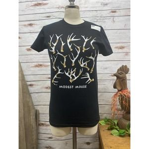 Modest Mouse Band TShirt NWT Black Antlers Youth M